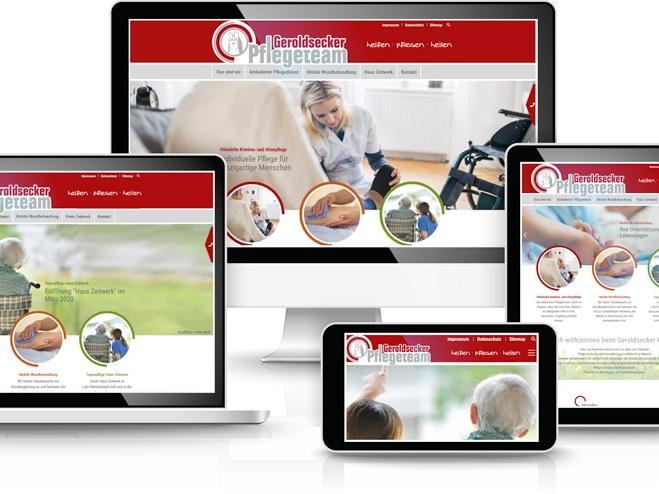 Website Geroldsecker Pflegeteam